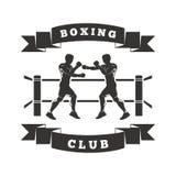 Logotipo del club del boxeo Imagen de archivo libre de regalías