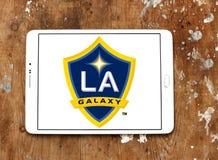 Logotipo del club del fútbol de la galaxia de Los Ángeles fotos de archivo