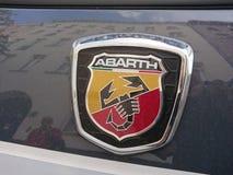 Logotipo del coche de Abarth 595 Fotos de archivo libres de regalías