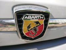 Logotipo del coche de Abarth 595 Imagen de archivo