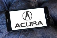 Logotipo del coche de Acura Imagen de archivo libre de regalías
