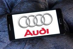Logotipo del coche de Audi Fotos de archivo libres de regalías