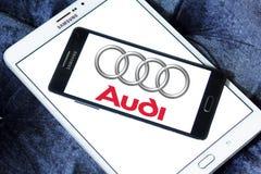 Logotipo del coche de Audi Fotografía de archivo
