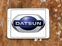 Logotipo del coche de Datsun Imagenes de archivo