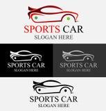 Logotipo del coche de deportes imágenes de archivo libres de regalías