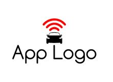 Logotipo del coche de Internet del App Fotografía de archivo libre de regalías