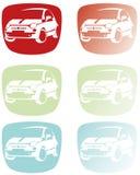 Logotipo del coche de la ciudad Imagen de archivo libre de regalías