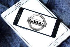 Logotipo del coche de Nissan Imagen de archivo