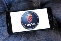 Logotipo del coche de Saab Fotografía de archivo