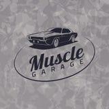 Logotipo del coche del músculo ilustración del vector