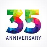 logotipo del color de 35 aniversarios Fotos de archivo