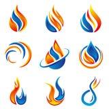 Logotipo del concepto de la energía Foto de archivo