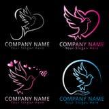Logotipo del concepto de la paloma del pájaro Fotografía de archivo libre de regalías