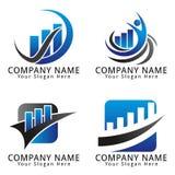 Logotipo del concepto de las finanzas y del márketing Foto de archivo libre de regalías