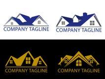Logotipo del concepto de Real Estate Imagen de archivo