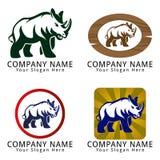 Logotipo del concepto del rinoceronte Fotos de archivo