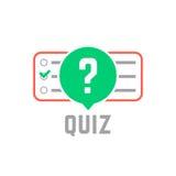 Logotipo del concurso con la prueba del examen Imagen de archivo libre de regalías