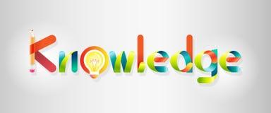 Logotipo del conocimiento estilo colorido del gráfico y de fuente Fotos de archivo libres de regalías