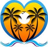 Logotipo del corazón del verano ilustración del vector