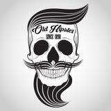 Logotipo del cráneo del inconformista Fotos de archivo