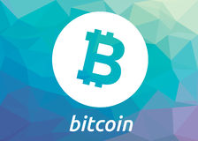 Logotipo del criptocurrency del blockchain de Bitcoin Fotos de archivo
