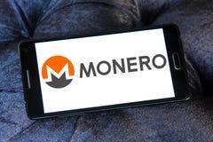 Logotipo del cryptocurrency de Monero imagen de archivo