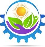 Logotipo del cuidado de la agricultura Imagen de archivo libre de regalías