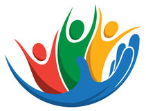 Logotipo del cuidado de la familia Imágenes de archivo libres de regalías