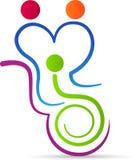 Logotipo del cuidado de la gente stock de ilustración