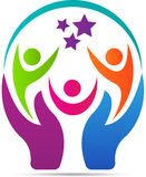 Logotipo del cuidado de la gente libre illustration