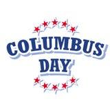 Logotipo del día de Colón Fotografía de archivo libre de regalías