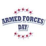 Logotipo del día de fuerzas armadas de arma Imágenes de archivo libres de regalías