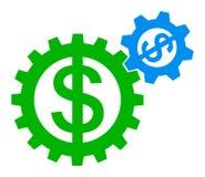 Logotipo del dólar del engranaje libre illustration