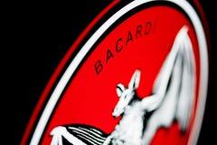 Logotipo del ` de BACARDI del ` Fotografía de archivo