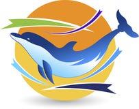 Logotipo del delfín ilustración del vector