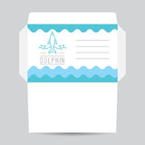 Logotipo del delfín y de ondas Imagen de archivo libre de regalías