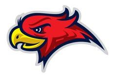 Logotipo del deporte de Eagle para el equipo de la universidad Aislado en el fondo blanco stock de ilustración