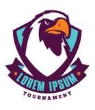Logotipo del deporte de Eagle para el equipo de la universidad Fotos de archivo libres de regalías