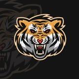 Logotipo del deporte del tigre e ilustración del vector