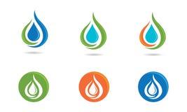 Logotipo del descenso del agua Imágenes de archivo libres de regalías