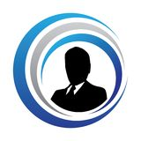 Logotipo del director empresarial Fotos de archivo