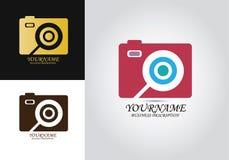 Logotipo del diseño del enfoque de la cámara fotos de archivo