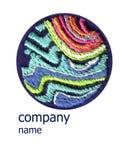 Logotipo del diseño para la textura hecha a mano del bordado libre illustration