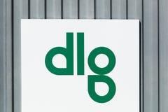 Logotipo del DLG en una pared Imágenes de archivo libres de regalías