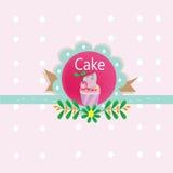 Logotipo del dulce de la torta Imagenes de archivo