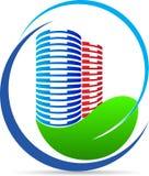 Logotipo del edificio de la naturaleza de Eco ilustración del vector