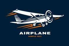 Logotipo del ejemplo del vector del club del aeroplano Fotografía de archivo