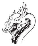 Logotipo del ejemplo del vector del dragón stock de ilustración