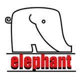 Logotipo del elefante Fotografía de archivo
