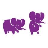 Logotipo del elefante de la historieta Imagen de archivo libre de regalías